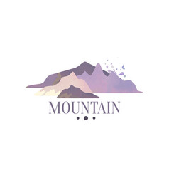 mountain logo template tourism hiking and vector image