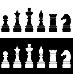 set of chess icons vector image vector image