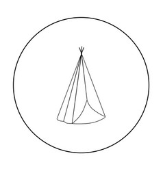 wigwam icon outline singe western icon from the vector image