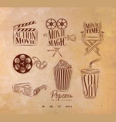 cinema signs craft vector image