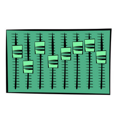 equalizer icon cartoon vector image
