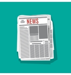 newspaper stack icon in flat design vector image vector image