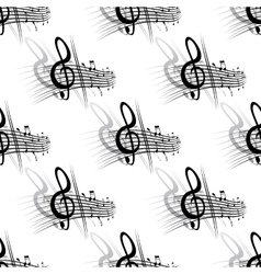 Seamless background music pattern vector image vector image