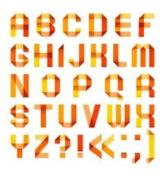 Spectral letters folded of paper ribbon-orange vector image vector image