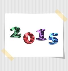 2015 happy new year card vector image