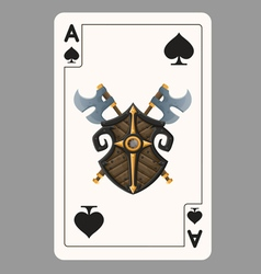 Ace of Spades playing card vector