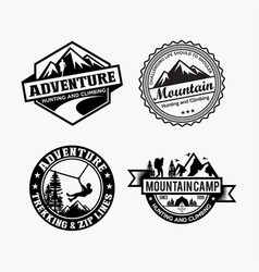 adventure logo badges 4 vector image
