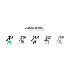 American football cheerleader jump icon in vector