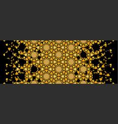 Arabesque rich gold luxury pattern vector