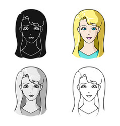 Avatar girl with white hair avatar and face vector