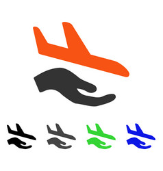aviation support flat icon vector image