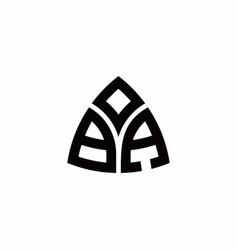 Ba monogram logo with modern triangle style vector