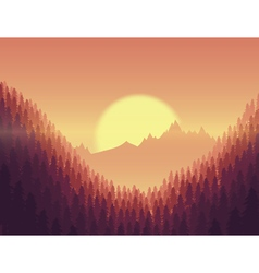 Background landscape with deep fir forest vector