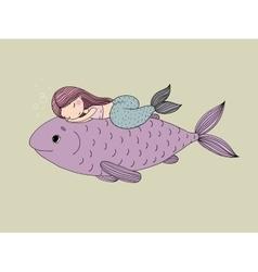 Mermaid Cartoon Big Vector Images (59)