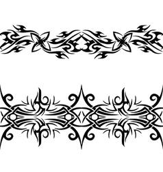 black celtic pattern vector image