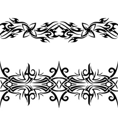 Black celtic pattern vector