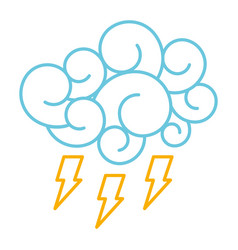 Blue cloud thunderbolt storm cartoon image vector