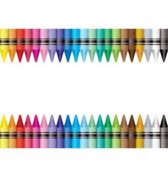 Border crayon vector