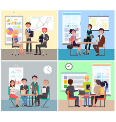 business meeting colorful vector image