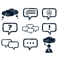 Chat icons set grunge vector