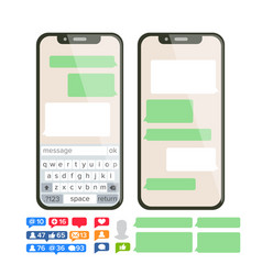 Chatbot text message chat bot bubble set vector