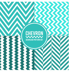 chevron seamless pattern background set blue vector image