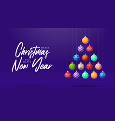 christmas and new year greeting card creative vector image