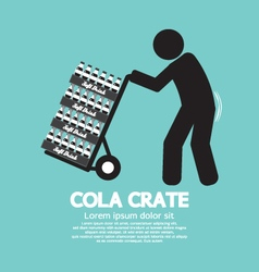 Cola crate on trolley symbol vector