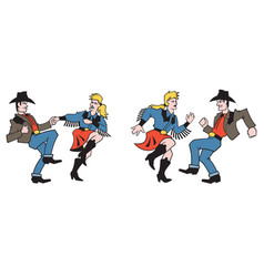 Country dancers design vector