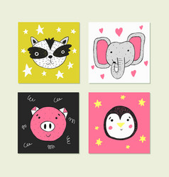 Cute for card print on clothes vector