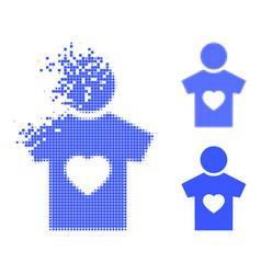 Damaged dot boyfriend icon with halftone version vector