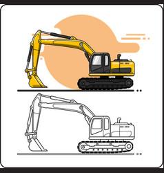Excavators vector