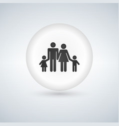 Family icon traditional young family symbol vector