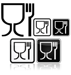 Food safe icons vector image