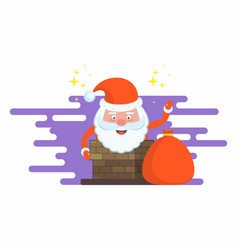 funny happy santa claus character christmas cards vector image