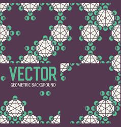 geometric tiles decoration background vector image