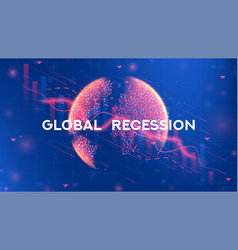 Global recession web banner vector