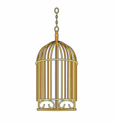 Golden cage vector