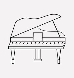 grand piano icon line element vector image