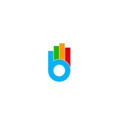 Graph letter b logo icon design vector