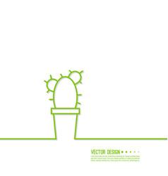 green cactus vector image