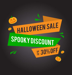 halloween sale background with pumpkins vector image