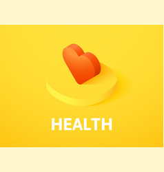 health isometric icon isolated on color vector image