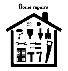 home repairs icon set of tools vector image