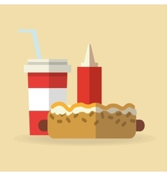 Hot dog food design vector