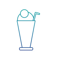 iced delicious coffee icon vector image