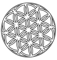 Interlocking circular flower vector