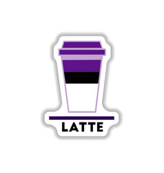 Label frames and badges icons coffee emblem latte vector