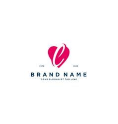 Letter l heart logo icon design vector
