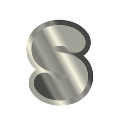 letter s steel font metal alphabet sign iron abc vector image
